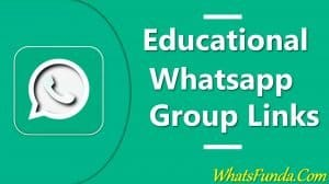 Education Whatsapp Group Links