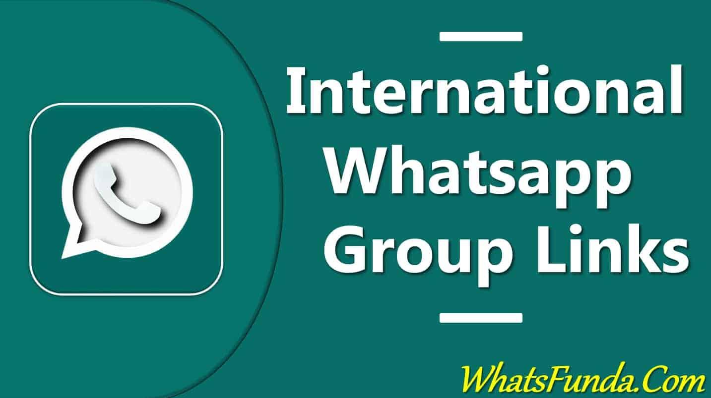 International Whatsapp Group Links