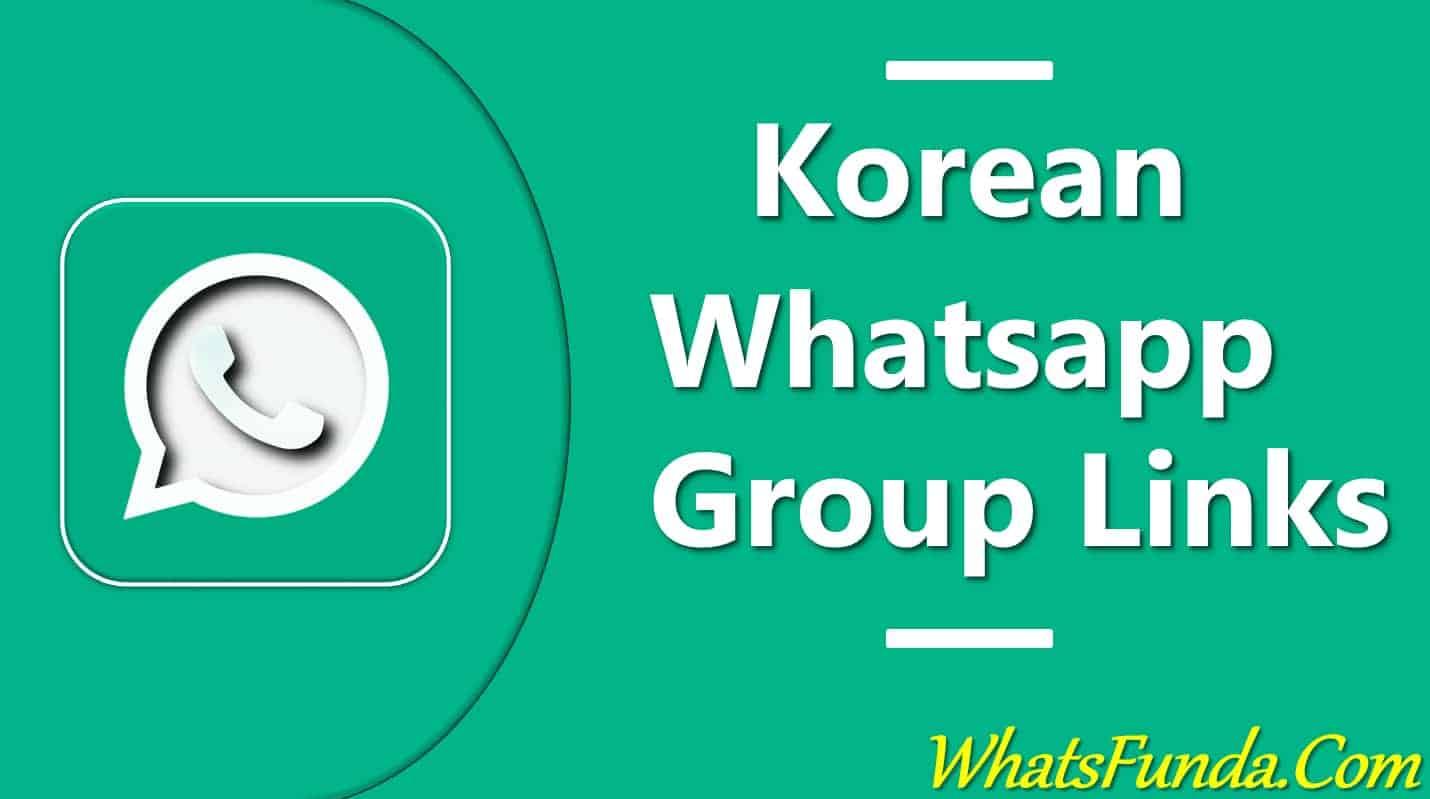 Korean Whatsapp Group Links