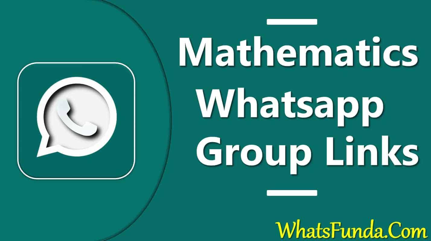 Math Whatsapp Group Link
